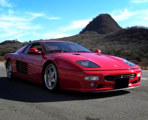 Retro Ferrari in red